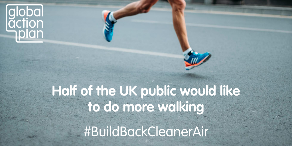 Half of the UK public would like to do more walking