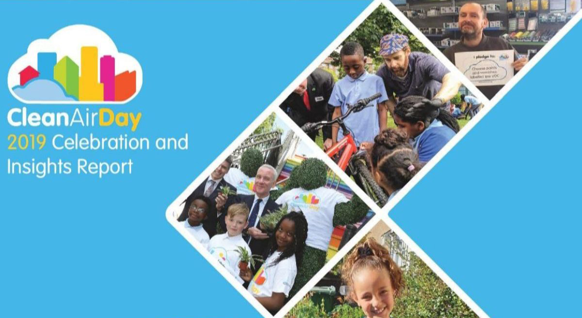 Cover of the Clean Air Day 2019 celebration and insights report