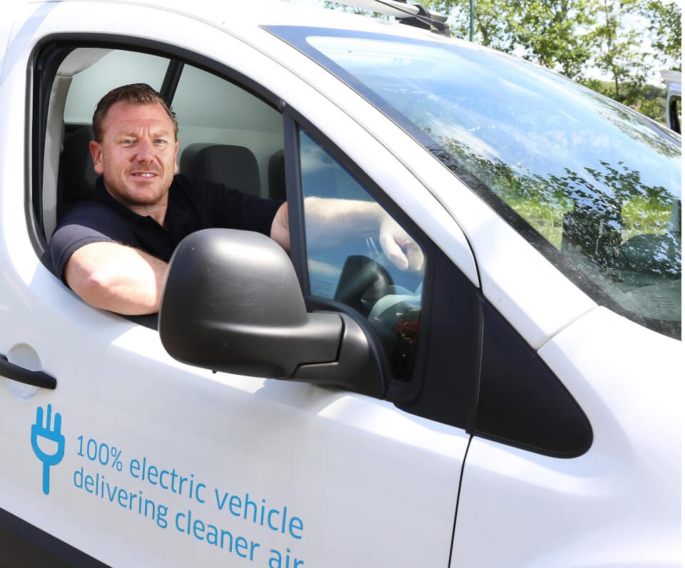 ENGIE electric vehicle, part of the Clean Van Commitment