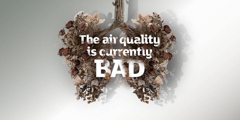 Twitter, air quality bad