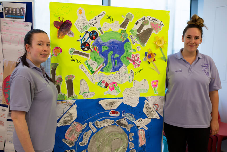 Staff from the GOSH play team share some of the excellent work that GOSH patients have done on clean air
