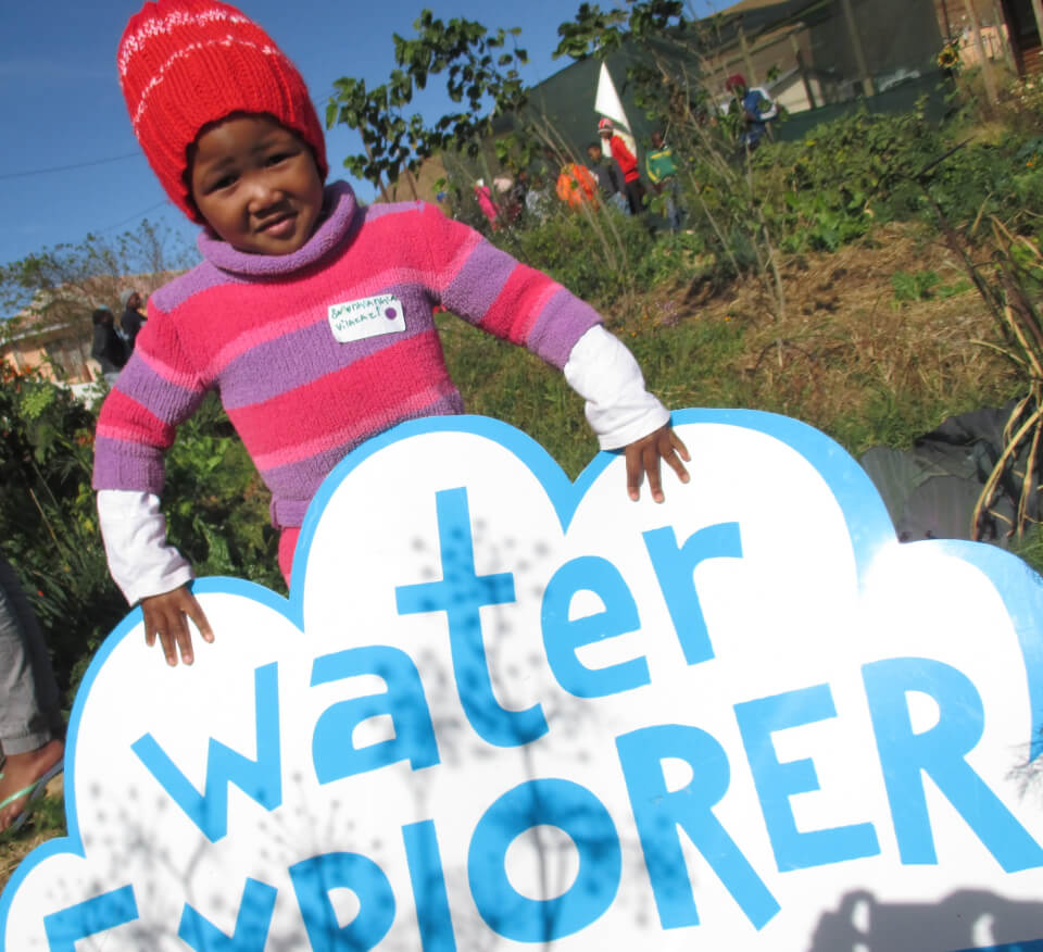 Water Explorer boy with logo in South Africa